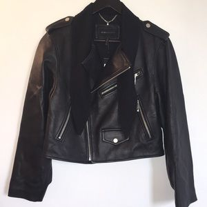 BCBGMAXAZRIA Lamb Leather Jacket